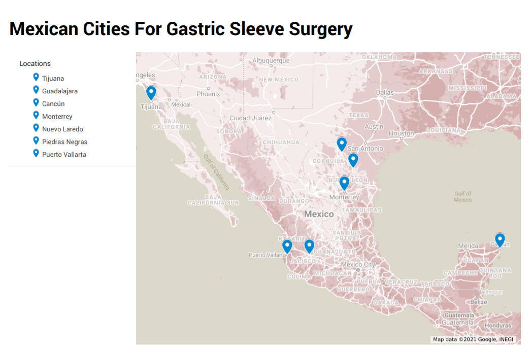 Mexican Cities For Gastric Sleeve Gastrectomy Surgery